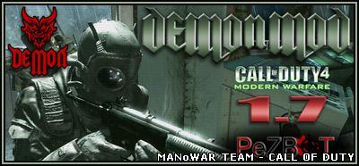 Скачать Demon MW2 Mod COD4 1 7 - мод для CoD4 - Моды для CoD 4